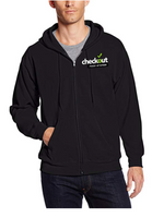 Custom Hanes Men's Full-Zip Black Fleece Hoodie