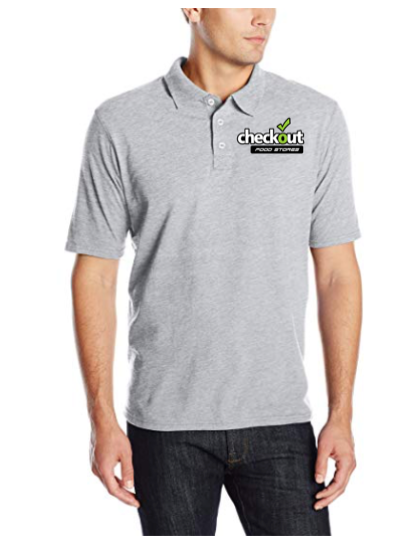 Custom Hanes Men's X-Temp Performance Grey Polo Shirt