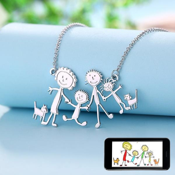 Children Artwork Necklace