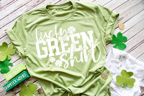 LUCKY GREEN SHIRT SCREEN PRINT TRANSFER