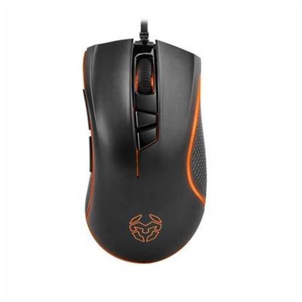 Mouse Gaming con LED Krom Khuno Khuno 400 dpi/5000 dpi Nero