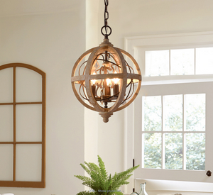 antique wood chandelier for sustainable design