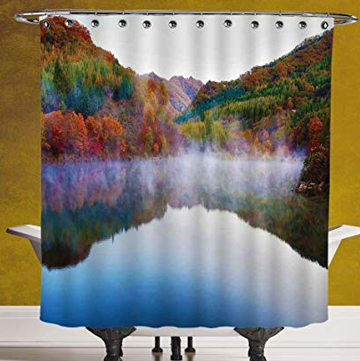 fall nature scene shower curtain
