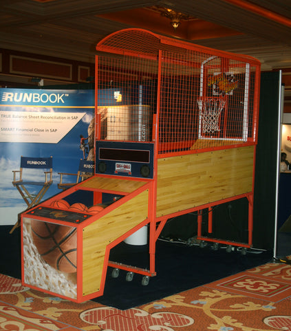 basketball contest at trade show