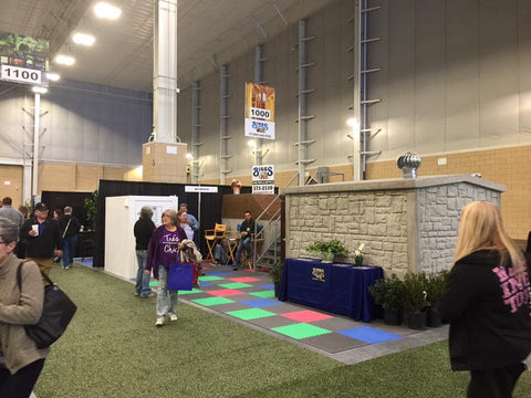 Biggs above ground shelter shown at a home show