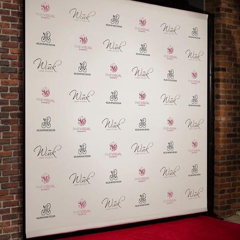 backdrop with logo for photo ops