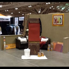 Booth set-up for demonstrating Manda Mudd