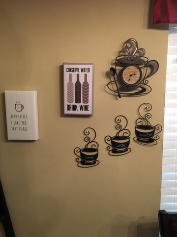 wine and coffee wall art