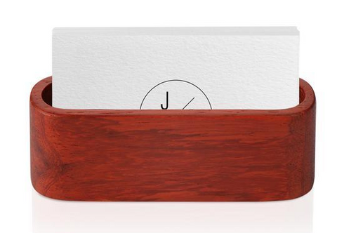 business card holder with thank you card included