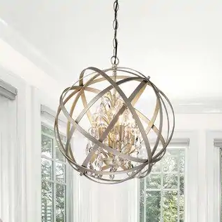 corner chandelier for guest room