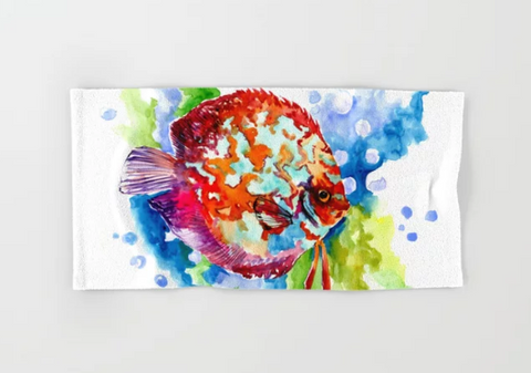 fish art for kids bathroom