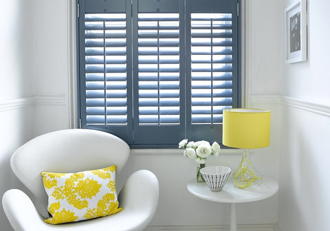 colored plantation shutters for accent
