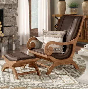 good structured chair with ottoman