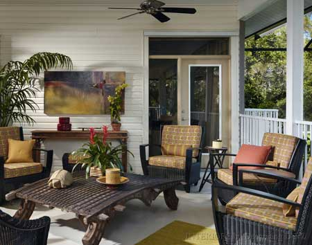 wicker front porch furniture