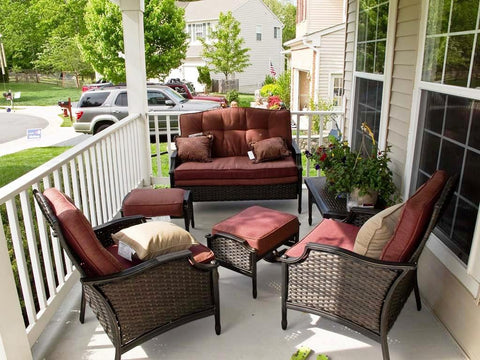 cushioned front porch furniture