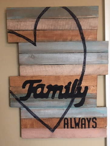 Family-a pallet wood sign by Barblar
