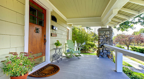 simplest yet beautiful front porch refresh
