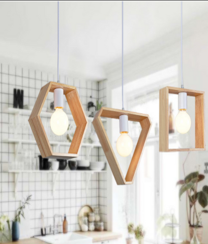 geometric wood lighting-small step for living ecofriendly