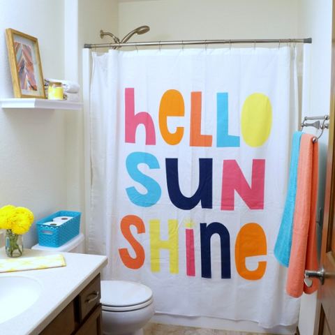 color shower curtain for kids bathroom
