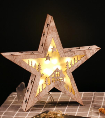 Lighted Star Lamps