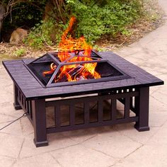 add a metal fire pit