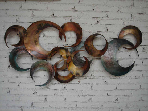 colorful metal art for guest room