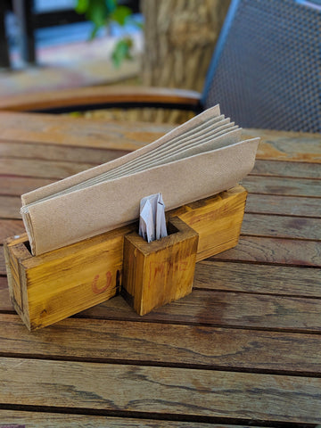 oak napkin holder