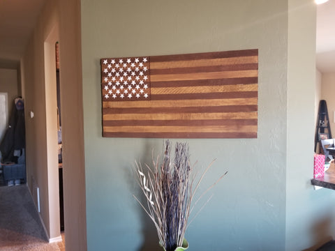 Old Glory Pallet Wood Flag