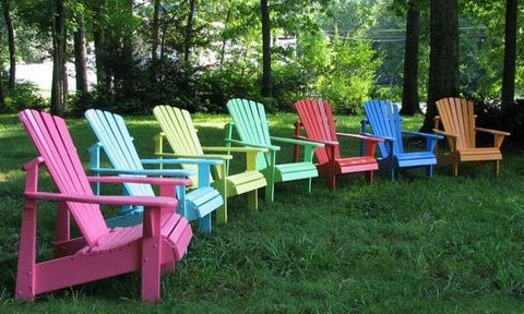 painted wood adirondack chairs