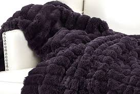 deep dark purple throw