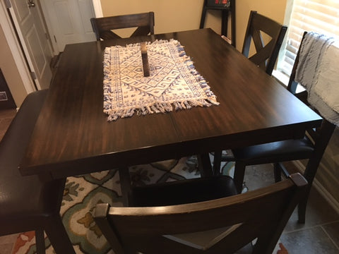 side view of kitchen pub table