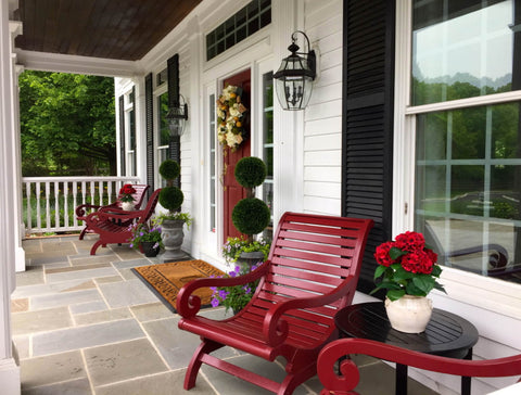 recycled plastic front porch furn