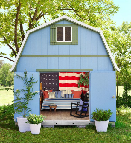 backyard shed into she shed