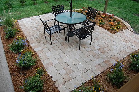 simple basic patio