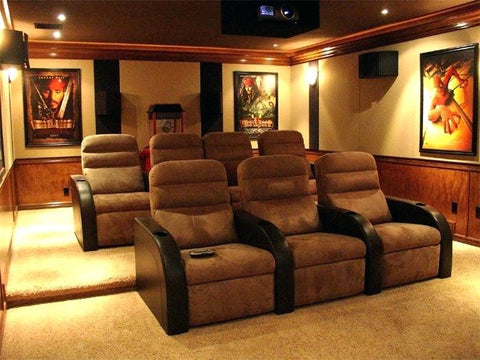 simple seating functional theater room