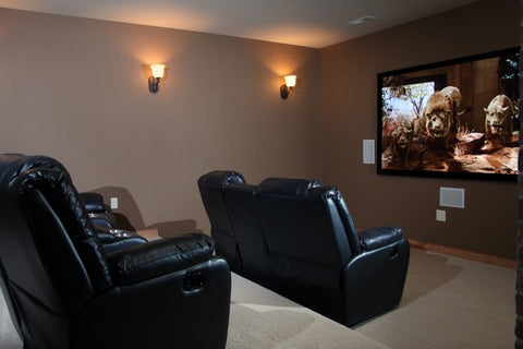 small and simple theater room