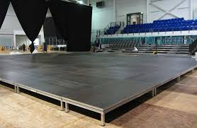 riser height for stage setup at events