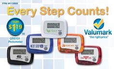 branded step counter for trade show gift