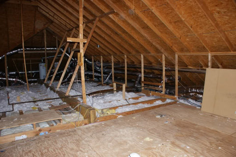 attic space for theater room