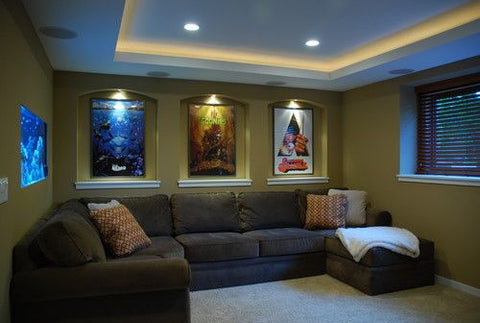 simple basement to theater room refresh
