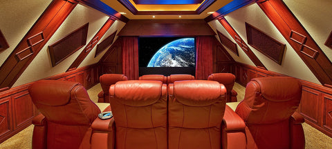 theater room in upstairs dormer