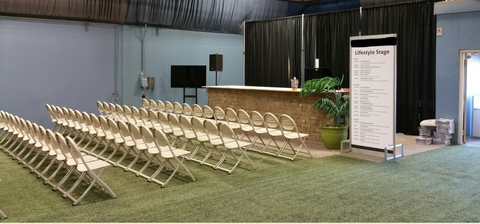 stage seating at your event-folding chairs