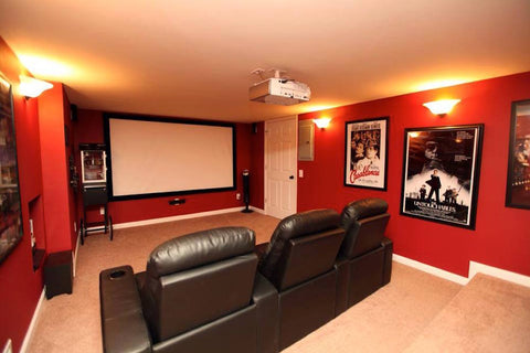 very simple theater room