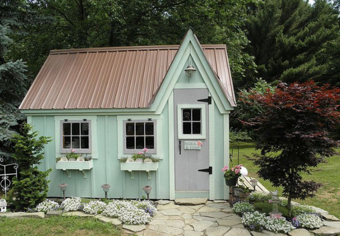 whimsical looking she shed