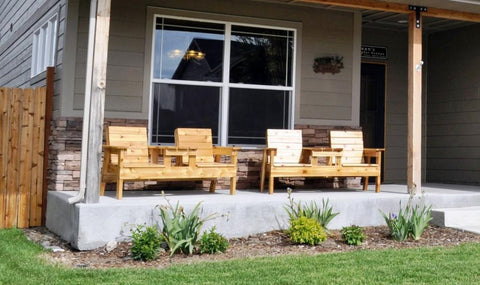 wood front porch furniture