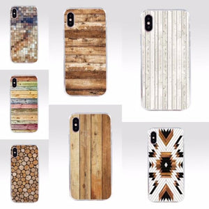 wood choice iPhone covers- natural wood and pallet prints