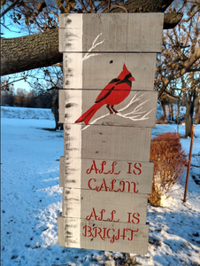 all is calm pallet sign