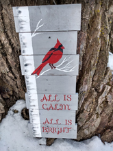 all is calm pallet wood sign