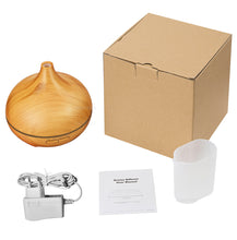 aroma therapy diffuser comes in box with these items as shown