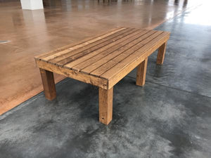standard wood bench for lobby seating